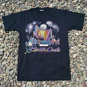 Vintage Monte Carlo Las Vegas T-Shirt - Size: M/L